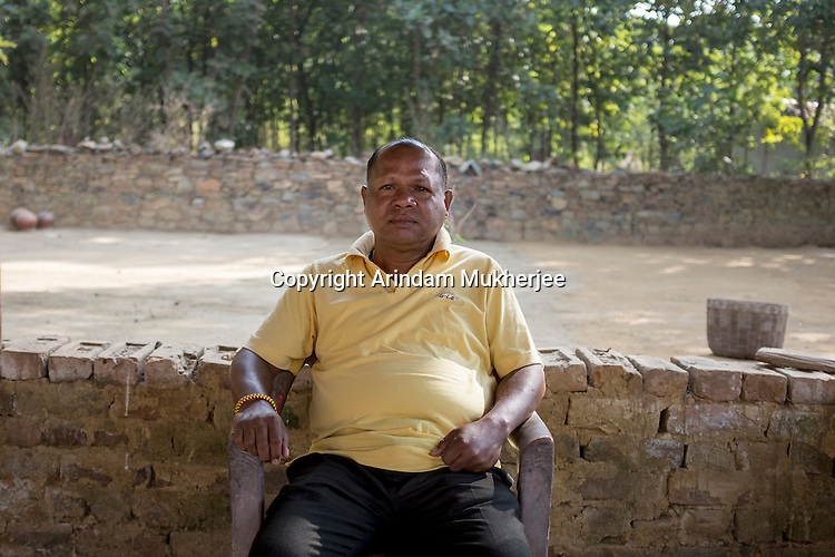 Ghanshyam Biruli, 52, the founder of the Jharkhandi Organization against Radiation (JOAR). This organization is supported by some 300 affected tribal villagers now. It has been running a movement since 1998, demanding safer practices by the Uranium Corporation of India Ltd (UCIL), which operates the Jaduguda mines.