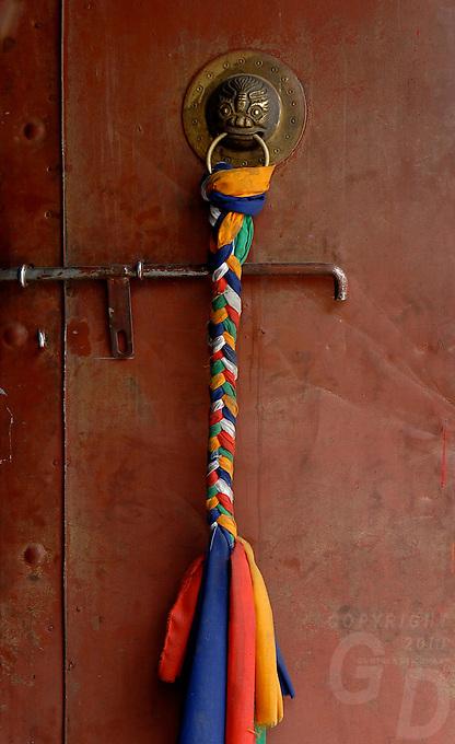 The door,The colors of the Tibetan Monestries and Temples in Tibet