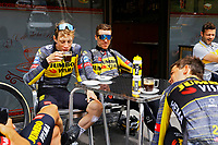 July 12th 2021, Andorre-la-Vielle, France; VINGEGAARD Jonas (DEN) of JUMBO-VISMA drinking coffee during rest day 2 of the 108th edition of the 2021 Tour de France cycling race on July 12