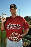 Feb 25, 2010; Kissimmee, FL, USA; The Houston Astros pitcher Yorman Bazardo (58) during photoday at Osceola County Stadium. Mandatory Credit: Tomasso De Rosa/Four Seam Images