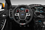 Steering wheel view of 2013 Ford Focus ST Hatchback Stock Photo
