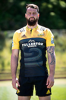 Blade Thomson. 2017 Hurricanes Super Rugby official marketing images at Rugby League Park in  Wellington, New Zealand on Wednesday, 14 December 2016. Photo: Dave Lintott / lintottphoto.co.nz