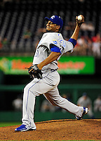 21 June 2010: Kansas City Royals pitcher Robinson Tejeda on the mound in relief against the Washington Nationals at Nationals Park in Washington, DC. The Nationals edged out the Royals 2-1 to take the first game of their 3-game interleague series and snap a 6-game losing streak. Mandatory Credit: Ed Wolfstein Photo