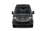 Car photography straight front view of a 2016 Mercedes Benz Sprinter-Cargo-Van 2500-144-WB-High-Roof 4 Door Cargo Van Front View