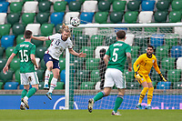 BELFAST, NORTHERN IRELAND - MARCH 28: Tim Ream #13 of the United States goes up for a header during a game between Northern Ireland and USMNT at Windsor Park on March 28, 2021 in Belfast, Northern Ireland.