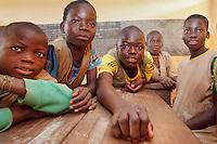scuola a Tagaye, villaggio della etnia Ditamar, parte del gruppo dei Somba, Benin