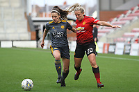 Kirsty Smith (Manchester United Women) during the English Womens Championship match between Manchester United Women and Leicester City Women at Leigh Sports Village, Leigh, England on 10 March 2019. Photo by James Gill / PRiME Media Images.