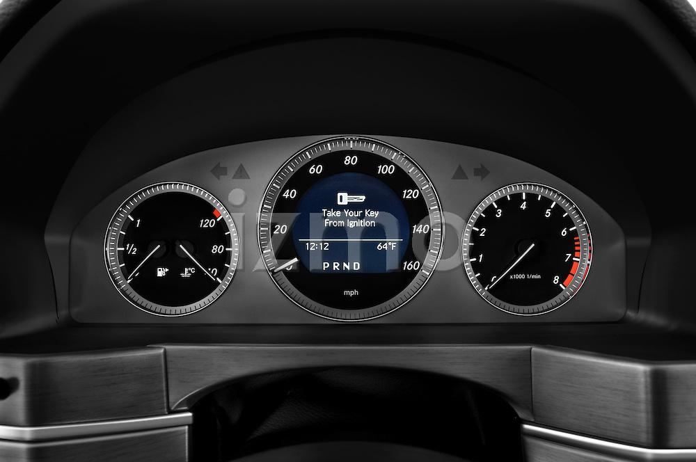 Instrument panel close up detail view of a 2010 Mercedes GLK Class 350