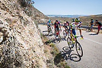 The breakaway led by Rein Taaramäe (EST) Intermarché-Wanty-Gobert Matériaux during Stage 3 of La Vuelta d'Espana 2021, running 202.8km from Santo Domingo de Silos to Picon Blanco, Spain. 16th August 2021.    <br /> Picture: Unipublic/Charly Lopez | Cyclefile<br /> <br /> All photos usage must carry mandatory copyright credit (© Cyclefile | Unipublic/Charly Lopez)
