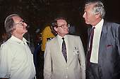 United Nations Conference on Environment and Development, Rio de Janeiro, Brazil, 3rd to 14th June 1992. Professor Jose Lutzenberger, British Environment Minister David Maclean and British Ambassador Michael Newington at the Global Forum