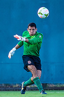 STANFORD, CA - August 19, 2014: Andrew Epstein during the Stanford vs CSU Bakersfield men's exhibition soccer match in Stanford, California.  Stanford won 1-0.