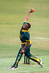 Jerry Nqolo of South Africa bowls during Day 2 of Hong Kong Cricket World Sixes 2017 Cup final match between Pakistan vs South Africa at Kowloon Cricket Club on 29 October 2017, in Hong Kong, China. Photo by Vivek Prakash / Power Sport Images