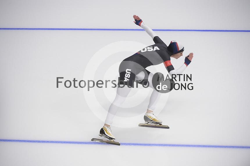 OLYMPIC GAMES: PYEONGCHANG: 18-02-2018, Gangneung Oval, Long Track, 500m Ladies, Brittany Bowe (USA), ©photo Martin de Jong