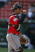 April 25, 2009:  Catcher Gustavo Molina of the Syracuse Chiefs, International League Class-AAA affiliate of the Washington Nationals, during a game at the Coca-Cola Field in Buffalo, NY.  Photo by:  Mike Janes/Four Seam Images