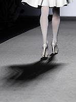 Una modella presenta una creazione della collezione Autunno-Inverno 2013 di Natasha Pavluchenko durante la rassegna Altaroma a Roma, 6 luglio 2013.<br /> A model wears a creation of the Natasha Pavluchenko house's Fall-Winter 2013 collection during the Altaroma fashion week in Rome, 6 July 2013.<br /> UPDATE IMAGES PRESS/Isabella Bonotto