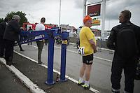 'vintage' fan awaits the riders after the finish<br /> <br /> Liège-Bastogne-Liège 2014