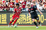 Bayern Munich Defender David Alaba (L) plays against AC Milan Defender Ignazio Abate (R) during the 2017 International Champions Cup China  match between FC Bayern and AC Milan at Universiade Sports Centre Stadium on July 22, 2017 in Shenzhen, China. Photo by Marcio Rodrigo Machado / Power Sport Images