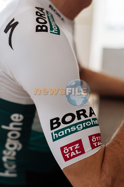 Daniel Oss (ITA) wearing BORA-Hansgrohe new 2021 Sportful kit. The design of the BORA-Hansgrohe kit has received a refreshed look with a cool and modern light grey colour, while keeping the iconic chevron at its core. 18th December 2020.<br /> Picture: BORA-Hansgrohe/Sportful/Chiara Redaschi  | Cyclefile<br /> <br /> All photos usage must carry mandatory copyright credit (© Cyclefile | BORA-Hansgrohe/Sportful/Chiara Redaschi)