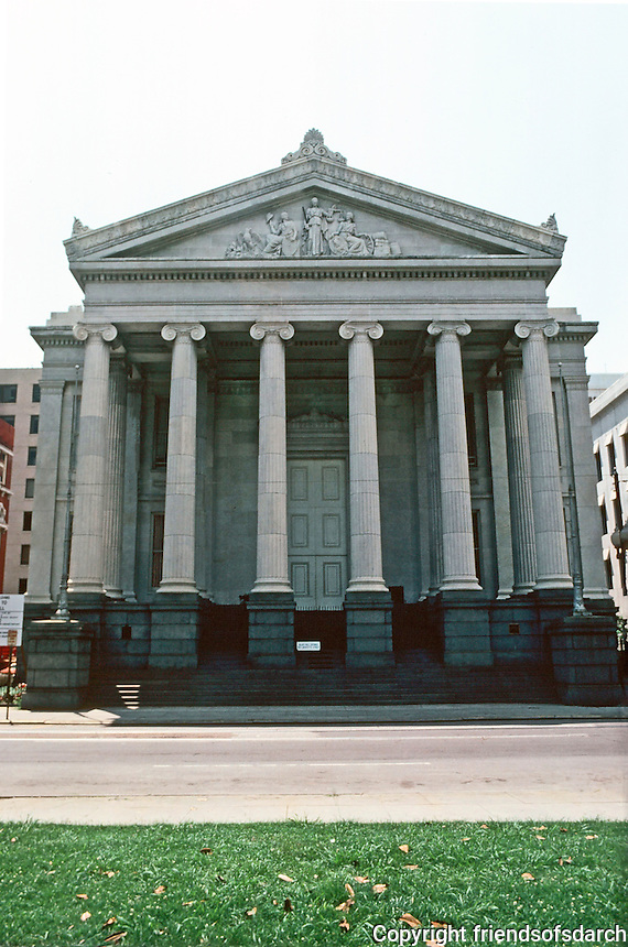 New Orleans:  Gallier Hall, 1845-50, 545 St. Charles.  (Old City Hall)  Architect  James Gallier, Sr.