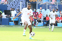 KANSAS CITY, KS - JULY 18: Cyle Larin #17 of Canada during a game between Canada and USMNT at Children's Mercy Park on July 18, 2021 in Kansas City, Kansas.
