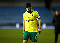 2nd February 2021; The Den, Bermondsey, London, England; English Championship Football, Millwall Football Club versus Norwich City; Grant Hanley of Norwich City walking off the pitch towards the away tunnel after the final whistle in disappointment