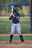 AZL Padres 2 Kelvin Alarcon (7) at bat during an Arizona League game against the AZL White Sox on June 29, 2019 at Camelback Ranch in Glendale, Arizona. The AZL Padres 2 defeated the AZL White Sox 7-3. (Zachary Lucy/Four Seam Images)