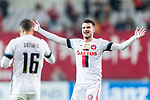 Sydney Wanderers Midfielder Lachlan Scott (R) gestures during the AFC Champions League 2017 Group F match between FC Seoul (KOR) vs Western Sydney Wanderers (AUS) at the Seoul World Cup Stadium on 15 March 2017 in Seoul, South Korea. Photo by Chung Yan Man / Power Sport Images