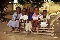 Bondoukou, Ivory Coast, Cote d'Ivoire, Ivorian Children.