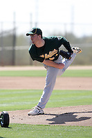 Connor Hoehn, Oakland Athletics 2010 minor league spring training..Photo by:  Bill Mitchell/Four Seam Images.
