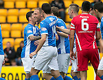 St Johnstone v Stirling Albion…30.07.16  McDiarmid Park. Betfred Cup<br />Steven Anderson celebrates his goal<br />Picture by Graeme Hart.<br />Copyright Perthshire Picture Agency<br />Tel: 01738 623350  Mobile: 07990 594431