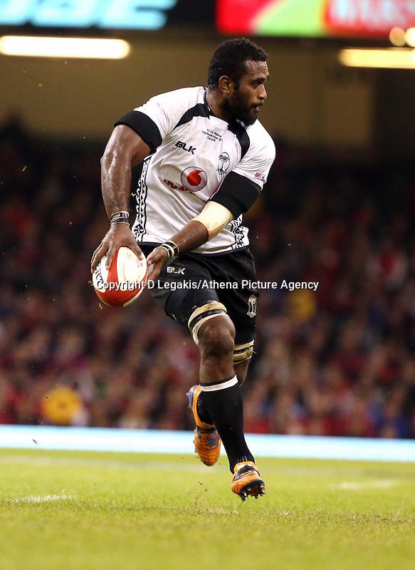 Pictured: Tevita Cavubati of Fiji. Saturday 15 November 2014<br /> Re: Dove Men Series rugby, Wales v Fiji at the Millennium Stadium, Cardiff, south Wales, UK.