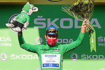 Mark Cavendish (GBR) Deceuninck-Quick Step retains the points Green Jersey at the end of Stage 20 of the 2021 Tour de France, an individual time trial running 30.8km from Libourne to Saint-Emilion, France. 17th July 2021.  <br /> Picture: Colin Flockton | Cyclefile<br /> <br /> All photos usage must carry mandatory copyright credit (© Cyclefile | Colin Flockton)