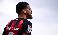 13th March 2021; Vitality Stadium, Bournemouth, Dorset, England; English Football League Championship Football, Bournemouth Athletic versus Barnsley; Dominic Solanke of Bournemouth rues a missed chance to score