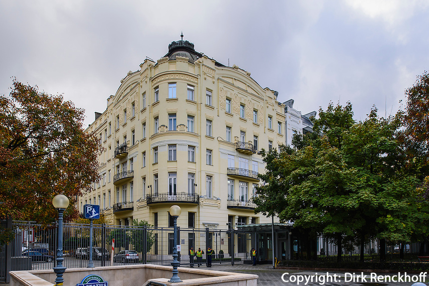 Amerikanische Botschaft am Szabadság tér, Budapest, Ungarn