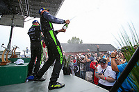 #39 Carbahn Motorsports Audi R8, GS: Tyler McQuarrie, Jeff Westphal, Champagne, Podium