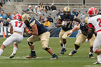 Pitt running back Qadree Ollison (37). The Pitt Panthers defeated the Youngstown State Penguins 28-21 in overtime at Heinz Field, Pittsburgh, Pennsylvania on September 02, 2017.