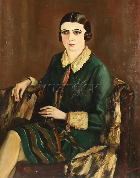Portrait of Lilya Brik (1891-1978), 1921. Artist: Silins, Alexander (active Early 20th cen.)