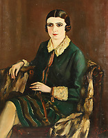 Portrait of Lilya Brik (1891-1978), 1921. Artist: Silins, Alexander (active Early 20th cen.)