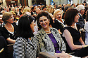 Luci Baines Johnson and Lynda Bird Johnson Robb, daughters of President Lyndon Johnson at former US Rep. Lindy Boggs'  funeral at St. Louis Cathedral, New Orleans, Aug. 1, 2013.