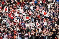 Japan supporters celebrate in the stands after Japan win the match - Mandatory byline: Rogan Thomson - 03/10/2015 - RUGBY UNION - Stadium:mk - Milton Keynes, England - Samoa v Japan - Rugby World Cup 2015 Pool B.