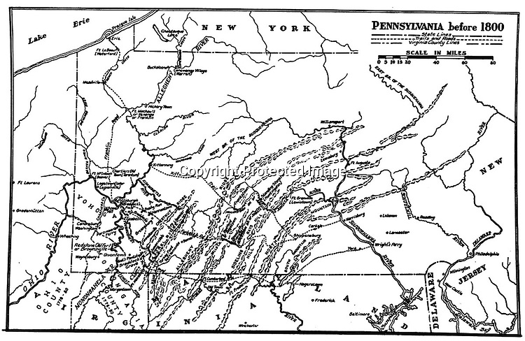 1800: Map of Pennsylvania and surrounding colonies