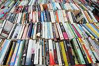 Hay on Wye. Sunday 05 June 2016<br />Used books on sale at the Oxfam book store at the Hay Festival, Hay on Wye, Wales, UK