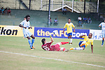 Manang Marshyangdi Club vs Sri Lanka Force during the 2014 AFC President's Cup Final Stage Group A match on September 20, 2014 at the Sugathadasa Stadium in Colombo, Sri Lanka. Photo by World Sport Group