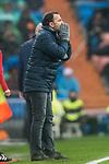 Coach Javier Calleja, Javi Calleja, of Villarreal CF reacts during the La Liga 2017-18 match between Real Madrid and Villarreal CF at Santiago Bernabeu Stadium on January 13 2018 in Madrid, Spain. Photo by Diego Gonzalez / Power Sport Images