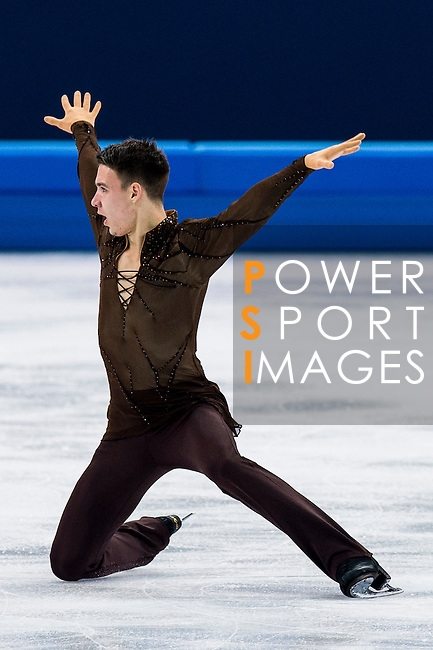 Viktor Romanenkov of Estonia competes during Figure Skating Men's Short Program of the 2014 Sochi Olympic Winter Games at Iceberg Skating Palace on February 12, 2014 in Sochi, Russia. Photo by Victor Fraile / Power Sport Images
