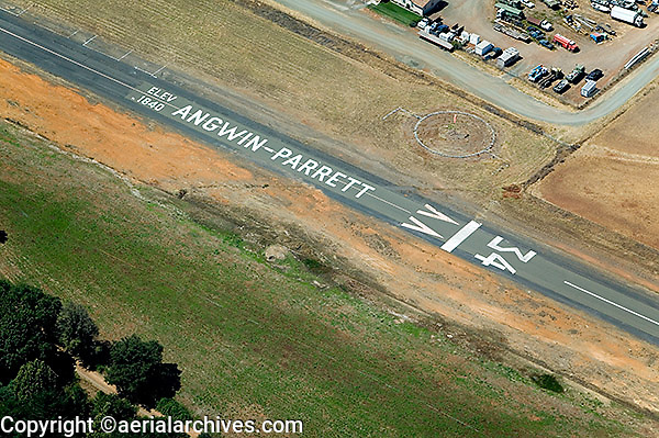 aerial photograph Angwin Parrett airport Napa County, California