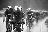 Mathew Hayman (AUS) driving the SKY-train<br /> <br /> 2013 Tour of Britain<br /> stage 5: Machynlleth to Caerphilly (177km)