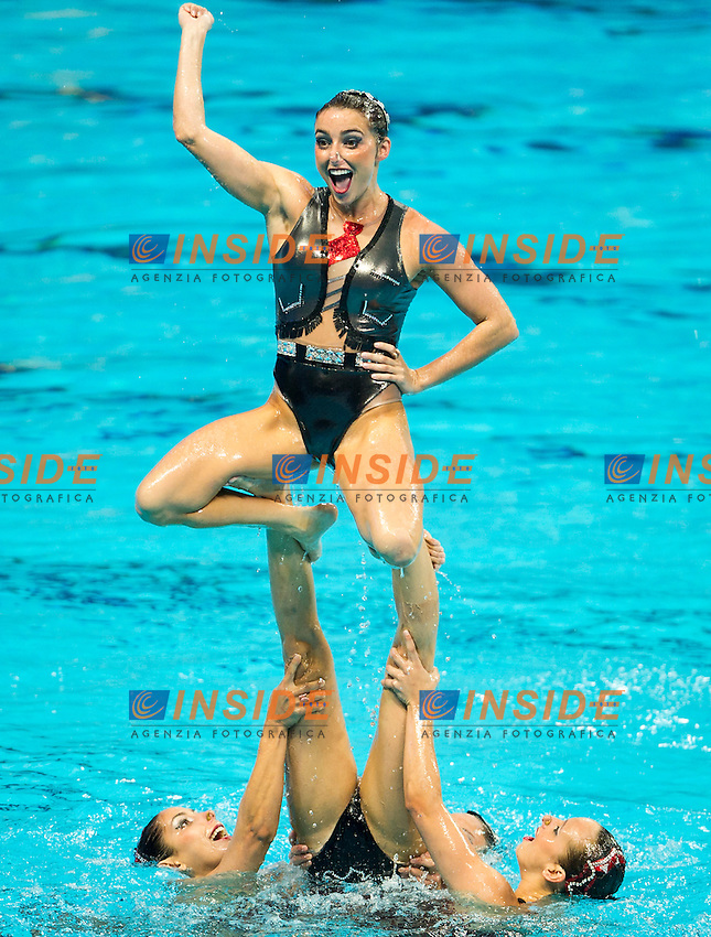 BRA - Brazil<br /> BRUNO Maria COUTINHO Maria<br /> DAMICO Juliana FERES Beatriz<br /> FERES Branca LOWY Sabrine<br /> MOLINOS Lorena NOGUEIRA Pamela<br /> STEPHAN Giovana TEIXEIRA Lara<br /> Day 9 01/08/2015<br /> XVI FINA World Championships Aquatics<br /> Synchro<br /> Kazan Tatarstan RUS July 24 - Aug. 9 2015 <br /> Photo Pasquale Mesiano/Deepbluemedia/Insidefoto
