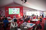 In the Hexagon Suite during the HSBC Hong Kong Rugby Sevens 2016 on 08 April 2016 at Hong Kong Stadium in Hong Kong, China. Photo by Moses Ng / Power Sport Images