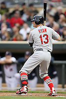 April 2, 2010: Brendan Ryan of the St. Louis Cardinals in the first professional baseball game played at the Minnesota Twins new home, Target Field. Photo by: Chris Proctor/Four Seam Images